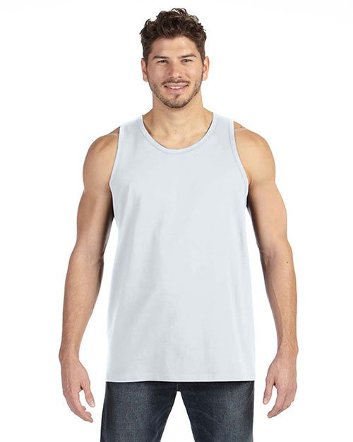 Anvil 986 Ringspun Tank WHITE at bigntallapparel