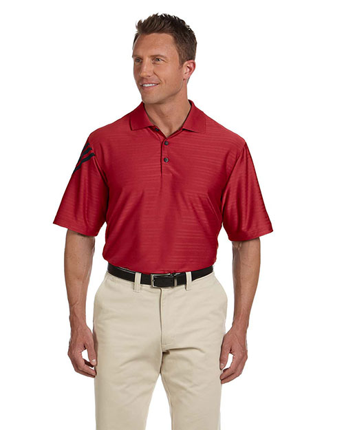 Adidas A133 Men's ClimaCool® Mesh Polo UNIVERSITY RED/BLACK at bigntallapparel