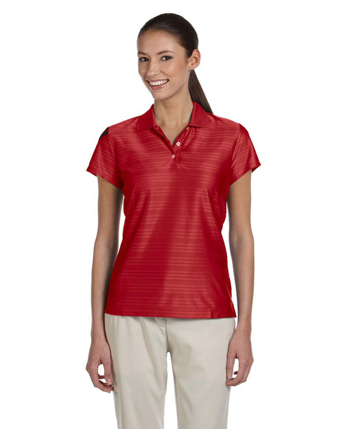 Adidas A135ALP Ladies' ClimaCool® Mesh Polo UNIVERSITY RED/BLACK at bigntallapparel