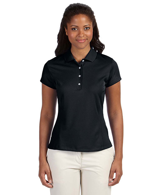 Adidas A171 Ladies' ClimaLite® Solid Polo BLACK at bigntallapparel