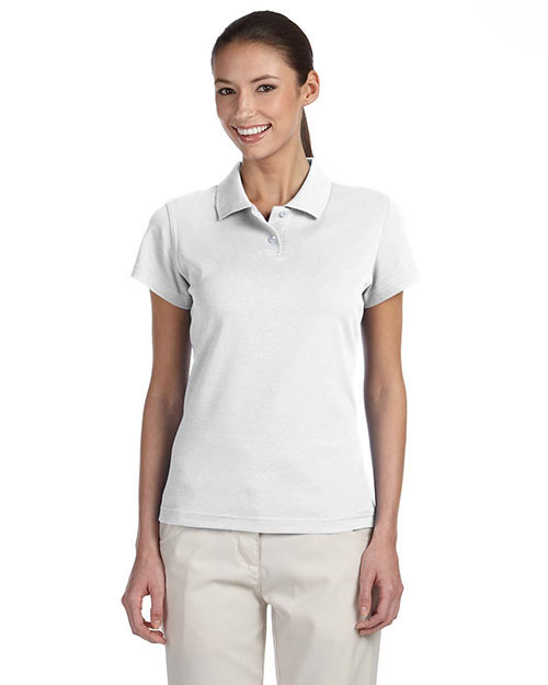 Adidas A85 Ladies' ClimaLite® Tour Piqué Short-Sleeve Polo WHITE/BLACK at bigntallapparel