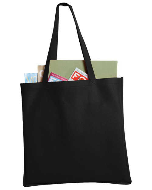 Port & Company B156 Polypropylene Tote.  Black at bigntallapparel
