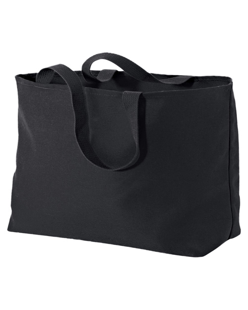 Port & Company B300 Jumbo Tote Black at bigntallapparel