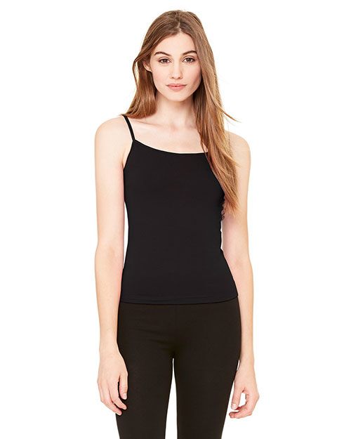 Bella B600 Ladies' Cotton/Spandex Camisole BLACK at bigntallapparel