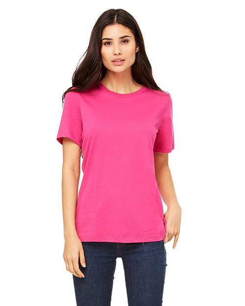 Bella B6400 Missy Jersey Short-Sleeve T-Shirt BERRY at bigntallapparel