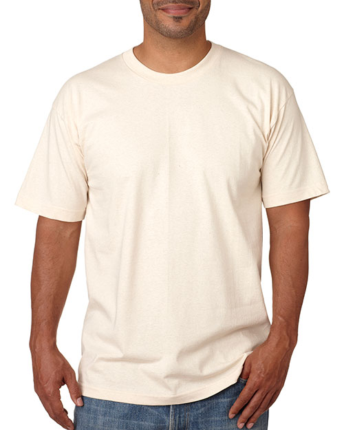 Bayside 5040     Adult Short-Sleeve Cotton Tee  Natural at bigntallapparel