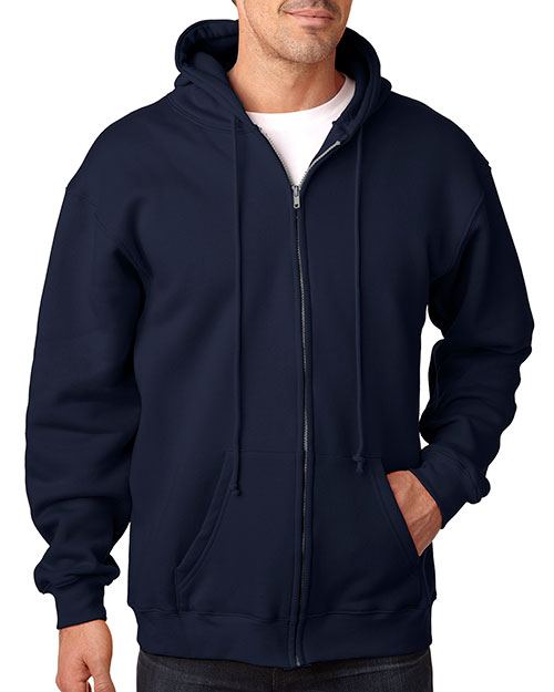 Bayside 900 USA Made Full Zip Hood Navy at bigntallapparel