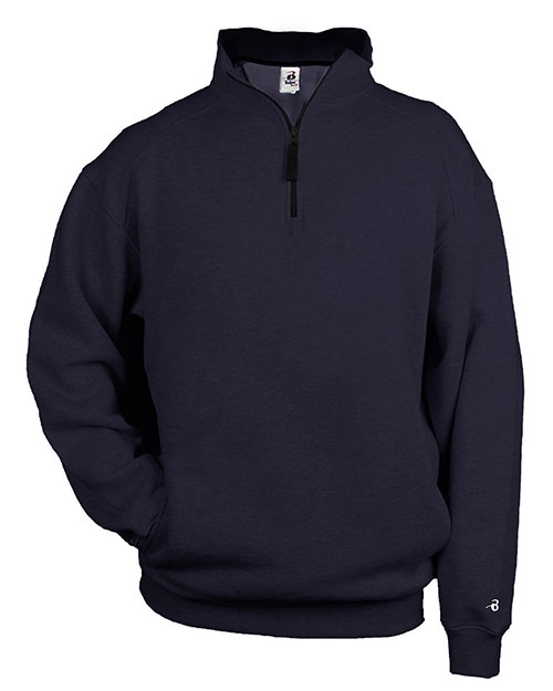Badger 1286     1/4 Zip Fleece Pullover  Navy at bigntallapparel