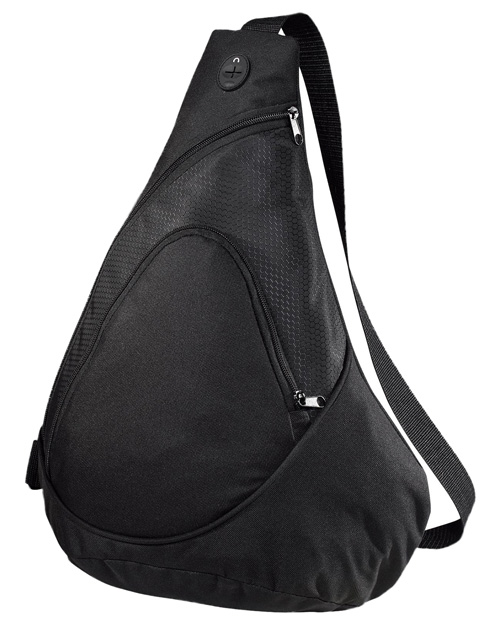 Port Authority BG1010 COMIING SOON Port & Company® Honeycomb Sling Pack.  Black at bigntallapparel