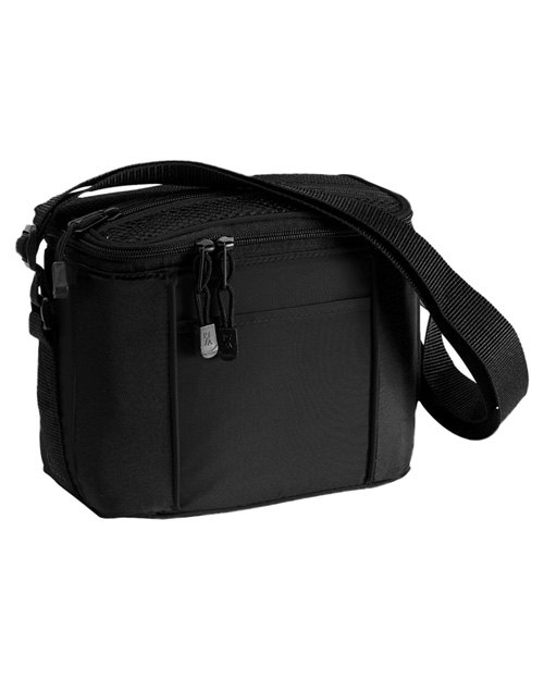 Port & Company BG87 6 Pack Cooler Black at bigntallapparel