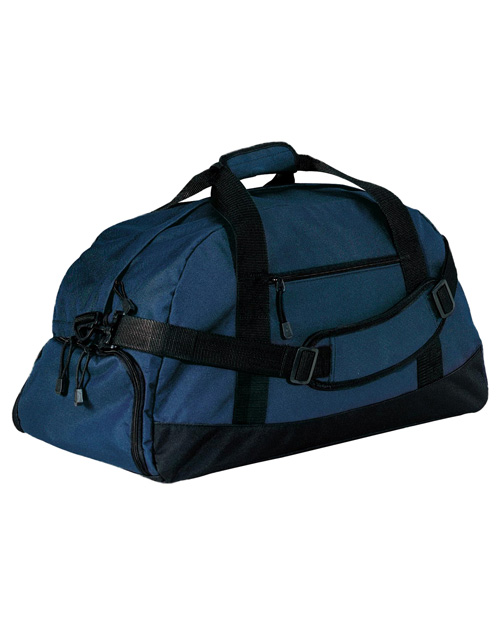 Port & Company BG980  Basic Large Duffel Navy at bigntallapparel