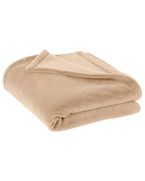Port Authority BP30 Plush Blanket.  Beige at bigntallapparel