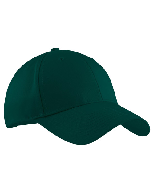 Port Authority C608 Mens Easy Care Cap Dark Green at bigntallapparel