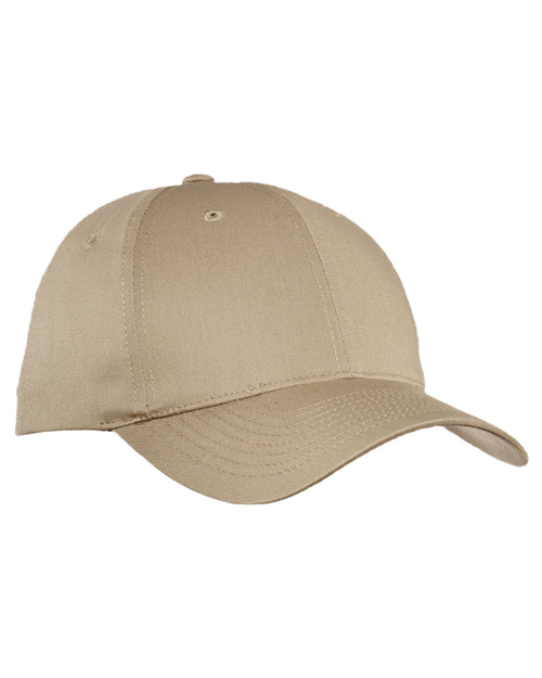 Port Authority C800  Fine Twill Cap Khaki at bigntallapparel
