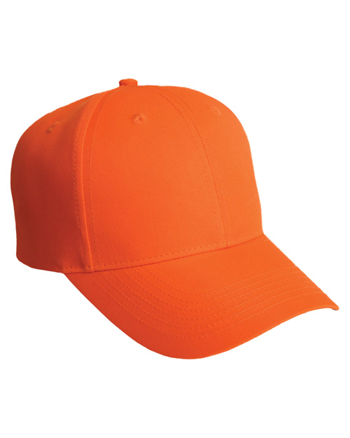 Port Authority C806 Mens Solid Safety Cap Safety Orange at bigntallapparel