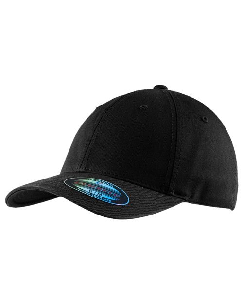 Port Authority C809   FlexfitGarment Washed Cap. Black at bigntallapparel