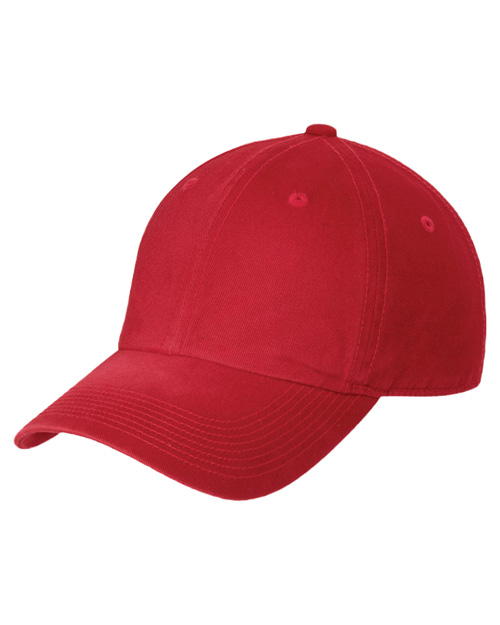 Port Authority C811 Spray Wash Cap.  Red at bigntallapparel