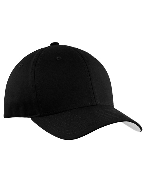 Port Authority C813 Flexfit &reg  - Cotton Twill Cap.  Black at bigntallapparel