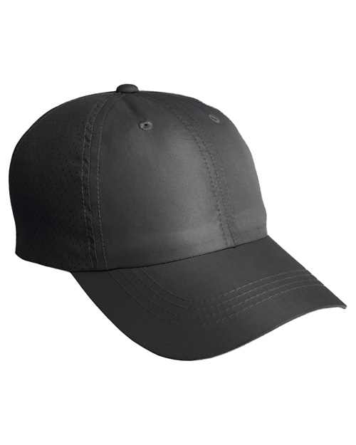 Port Authority C821 Mens Perforated Cap Black at bigntallapparel