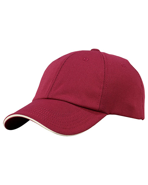Port Authority Signature C838 Mens Dry Zone Cap Mars Red/Stone at bigntallapparel