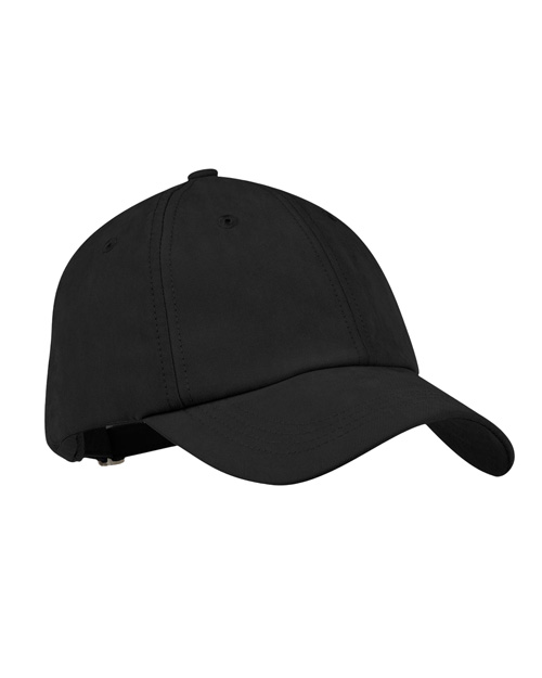 Port Authority Signature C850 Mens Sueded Cap Black at bigntallapparel