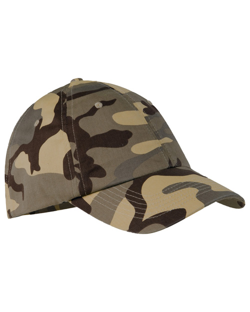 Port Authority C851 Mens Camouflage Cap Desert Camo at bigntallapparel
