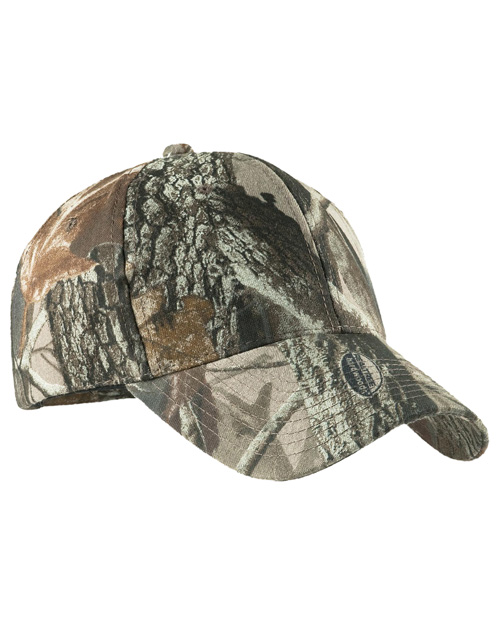 Port Authority C855 Mens Pro Camouflage Series Cap Real Tree Hardwoods at bigntallapparel