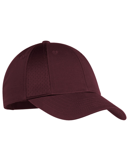 Port Authority C866 Mens Mesh Inset Cap Maroon at bigntallapparel