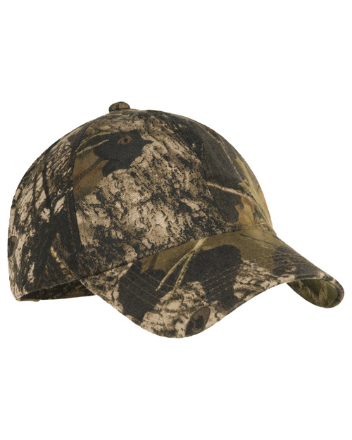 Port Authority C871 Mens Pro Camouflage Series Garment-Washed Cap Mossy Oak New Break-Up at bigntallapparel
