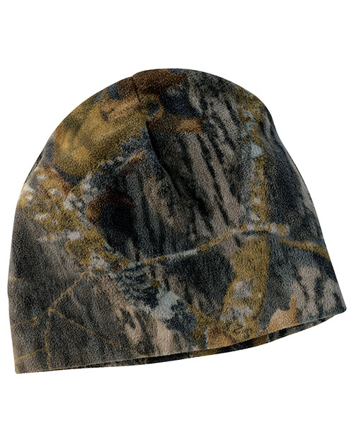 Port Authority C901   Mossy Oak Fleece Beanie New Mossy Oak Break-Up at bigntallapparel