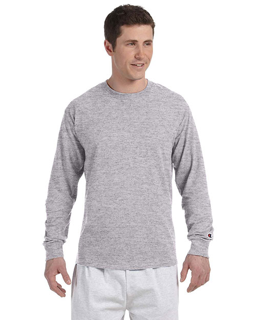 Champion CC8C 5.2 oz. Long-Sleeve Tagless T-Shirt LIGHT STEEL at bigntallapparel
