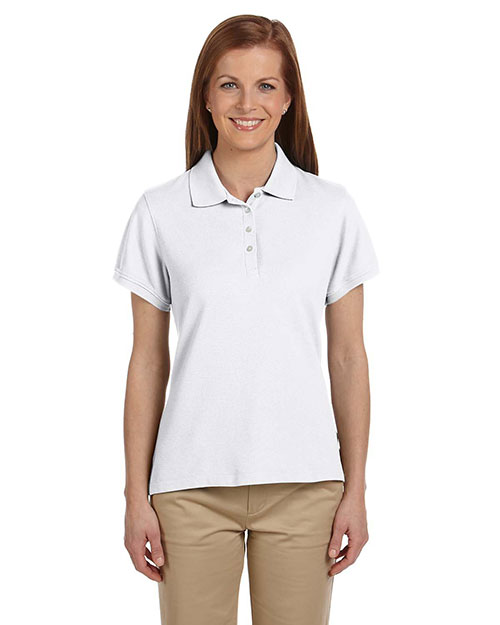Chestnut Hill CH100W Ladies' Performance Plus Piqué Polo WHITE at bigntallapparel