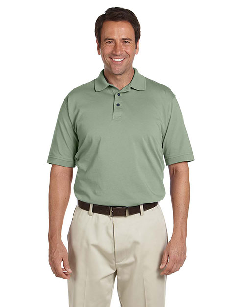 Chestnut Hill CH180 Men Performance Plus Jersey Polo Cactus at bigntallapparel