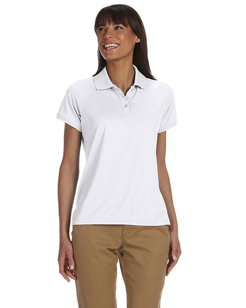 Chestnut Hill CH365W Ladies' Technical Performance Polo WHITE at bigntallapparel