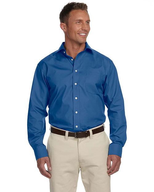 Chestnut Hill CH600C Men's Executive Performance Broadcloth with Spread Collar ATLANTIC at bigntallapparel