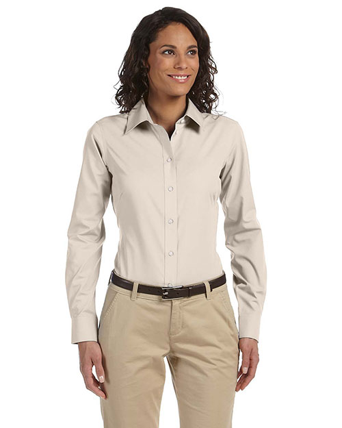 Chestnut Hill CH600W Ladies' Executive Performance Broadcloth STONE at bigntallapparel