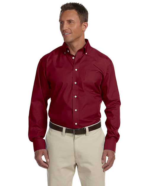 Chestnut Hill CH600 Mens Executive Performance Broadcloth Merlot at bigntallapparel