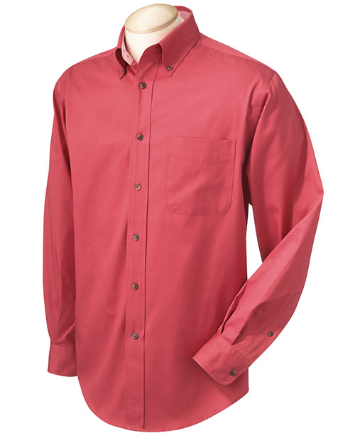 Chestnut Hill CH605 Mens Performance Plus Twill Terracotta/Terracot at bigntallapparel