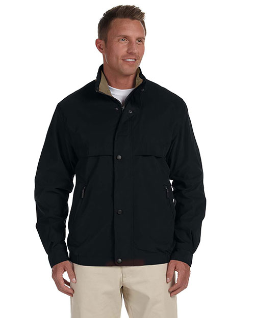 Chestnut Hill CH850 Mens Lodge Microfiber Jacket Black/Surplus at bigntallapparel