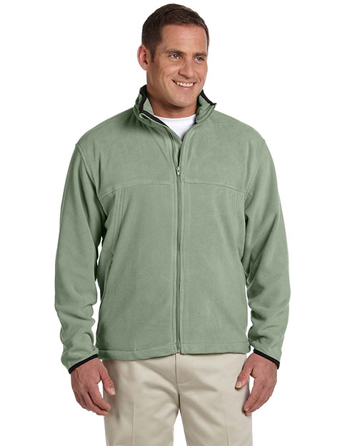 Chestnut Hill CH900 Men Microfleece Full Zip Jacket Cactus at bigntallapparel