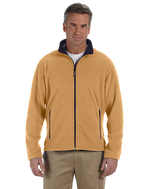 Chestnut Hill CH950 Men Polartec Full Zip Jacket Hawthorne/True Navy at bigntallapparel