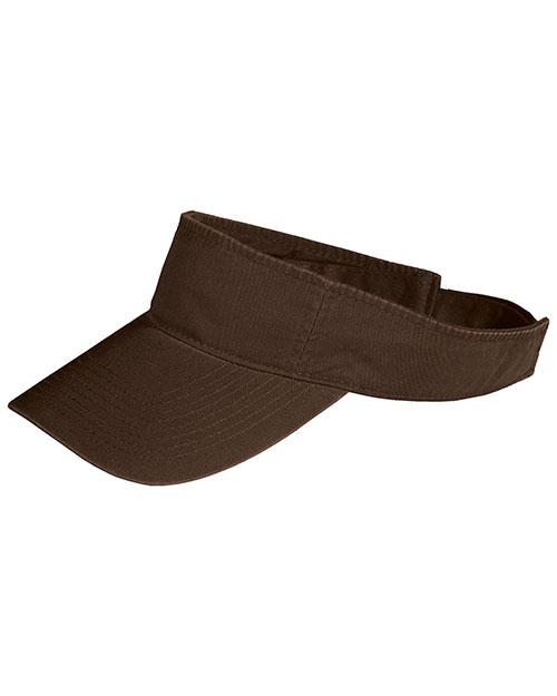 Port & Company CP45  Fashion Visor Coffee Bean at bigntallapparel