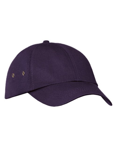 Port & Company CP81 Mens Fashion Twill Cap with Metal Eyelets Eggplant at bigntallapparel