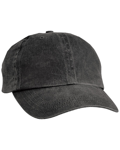 Port & Company CP84 Mens Pigment Dyed Cap Black at bigntallapparel