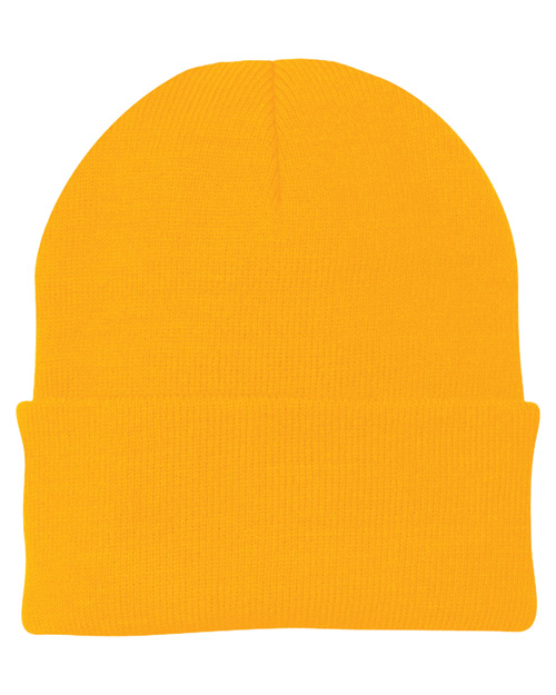 Port & Company CP90 Mens Knit Cap Athletic Gold at bigntallapparel