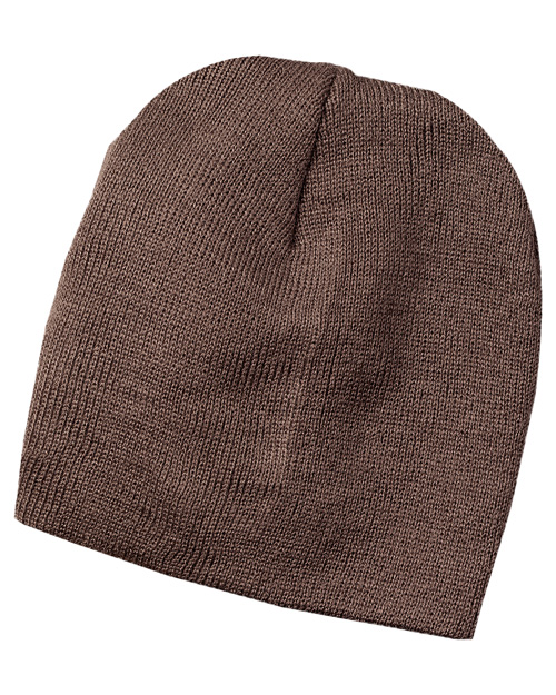 Port & Company CP94  Knit Skull Cap Brown at bigntallapparel