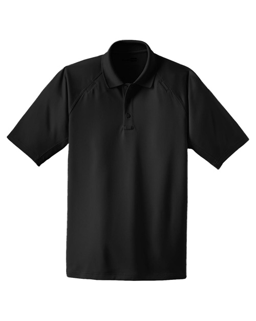 Cornerstone CS410 Men Select Snag-Proof Tactical Polo Black at bigntallapparel