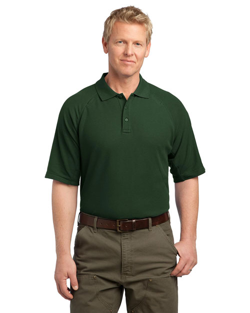 CornerStone CS414 EZCotton™ Tactical Polo.  Dark Green at bigntallapparel