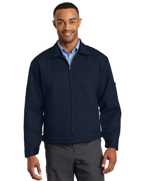 CornerStone CSJT22 Mens Slash Pocket Work Jacket Navy at bigntallapparel