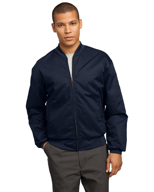 CornerStone CSJT38 Mens Team Style Jacket with Slash Pockets Navy at bigntallapparel